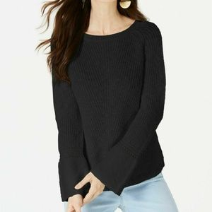 Style&Co M Black Textured Pullover Sweater 4Z56